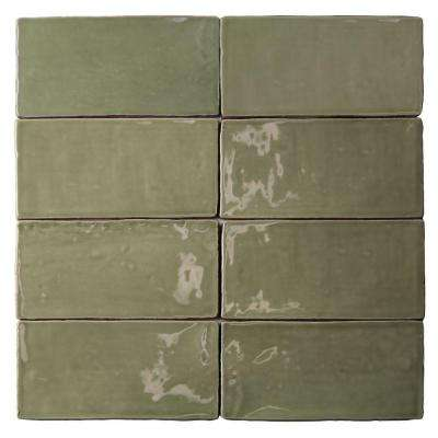 Catalina Kale 3 in. x 6 in. x 8 mm Ceramic Wall Subway Tile