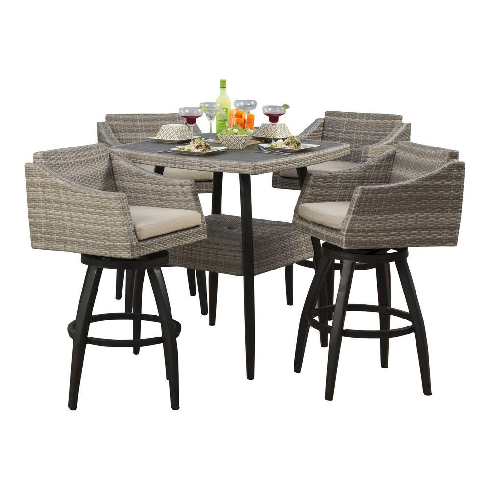 Bar height dining set dining room sets bar height wyatt for Global outdoors fire table