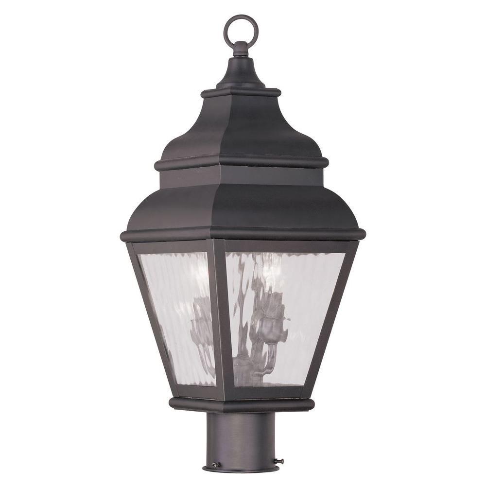 Livex Lighting Exeter 2-Light Outdoor Bronze Post Head