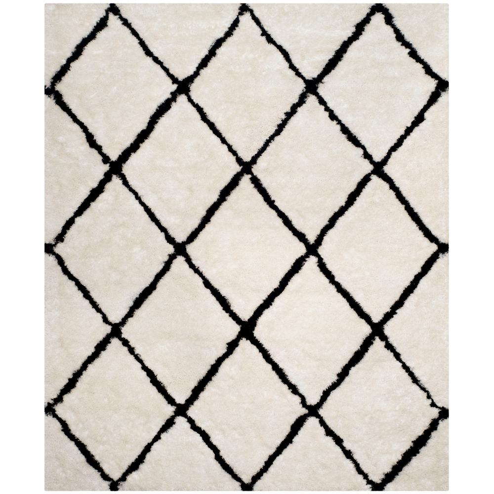 Safavieh Toronto White Black 8 Ft X 10 Area Rug