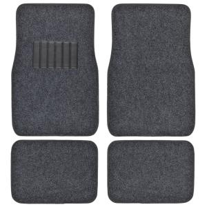 Clic Mt 100 Dark Gray Carpet With Rubberized Backing 4 Piece Car Floor Mats