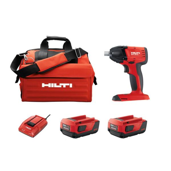SIW 22-Volt Lithium-Ion 3/8 in. Cordless Brushless Compact Impact Wrench Kit with (2) Li-Ion Batteries, Charger and Bag