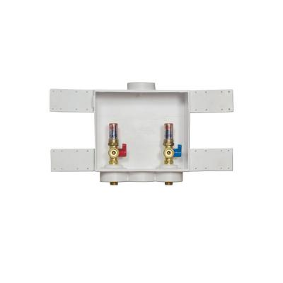Quadtro 2 in. Copper Sweat Connection Washing Machine Outlet Box with Water Hammer Arresters