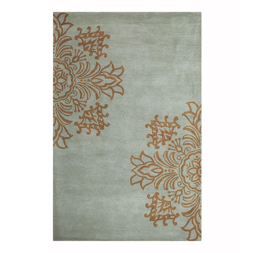 Home decorators collection tempo blue 8 ft x 11 ft area for Decorators collection rugs