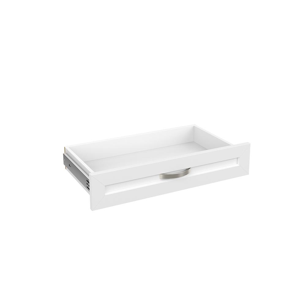 ClosetMaid Style+ 5 in H x 25 in. W White Melamine Shaker Drawer Kit for 25 in. W Tower
