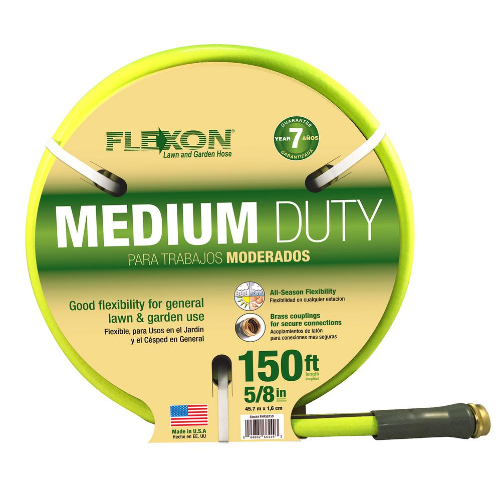 Flexon 5/8 In. Dia X 150 Ft. Medium Duty Reel Hose