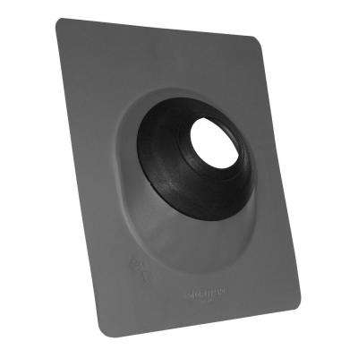 No-Calk 3 in. to 4 in. Aluminum Gray Roof Flashing