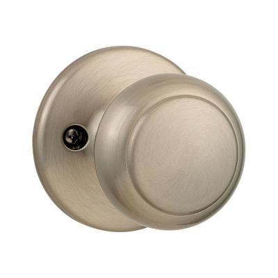 Cove Satin Nickel Dummy Door Knob Featuring Microban Antimicrobial Technology