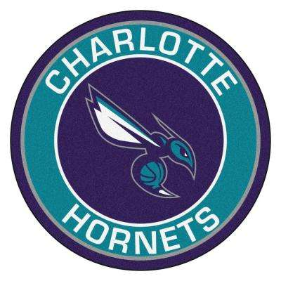NBA Charlotte Hornets Turquoise 2 ft. 3 in. x 2 ft. 3 in. Round Accent Rug