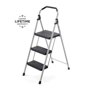 Astounding Gorilla Ladders 3 Step Lightweight Steel Step Stool Ladder With 225 Lbs Load Capacity Type Ii Duty Rating Gls 3 The Home Depot Creativecarmelina Interior Chair Design Creativecarmelinacom