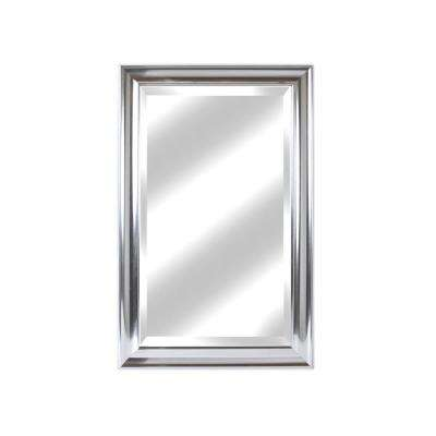 Concept 21 in. x 27 in. Silver Framed Beveled Mirror