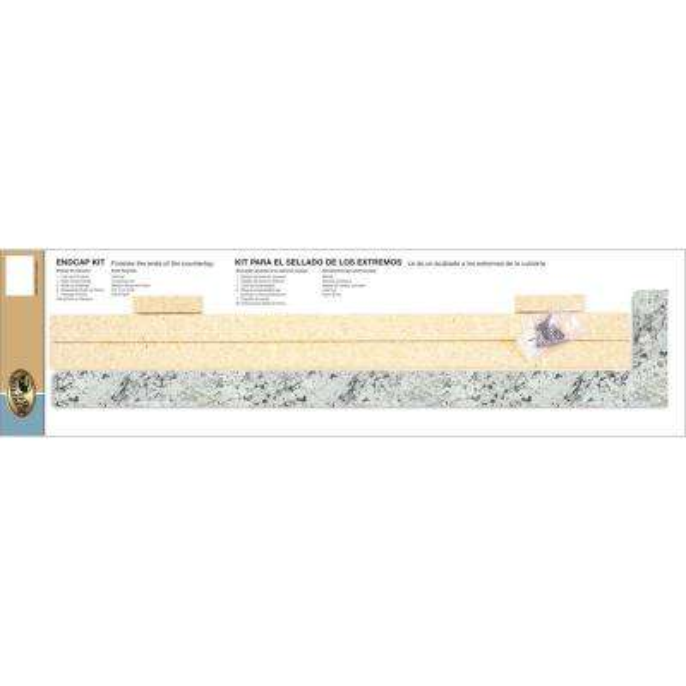 4-5/8 in. x 25-3/4 in. Laminate Endcap Kit in White Ice Granite with Ora Edge