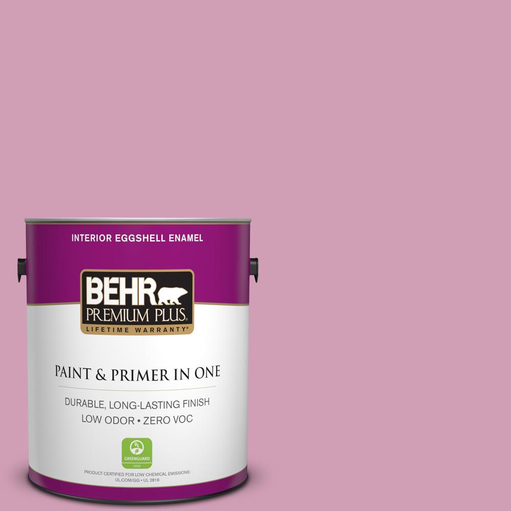 BEHR Premium Plus 1-gal. #M130-4 Raspberry Smoothie Eggshell Enamel Interior Paint