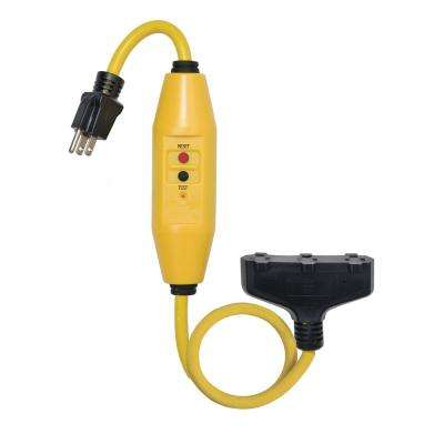 2 ft. In-Line GFCI Triple Tap Cord Automatic Reset