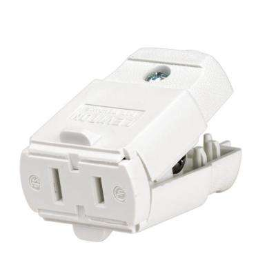 15 Amp Polarized Light-Duty Connector, White
