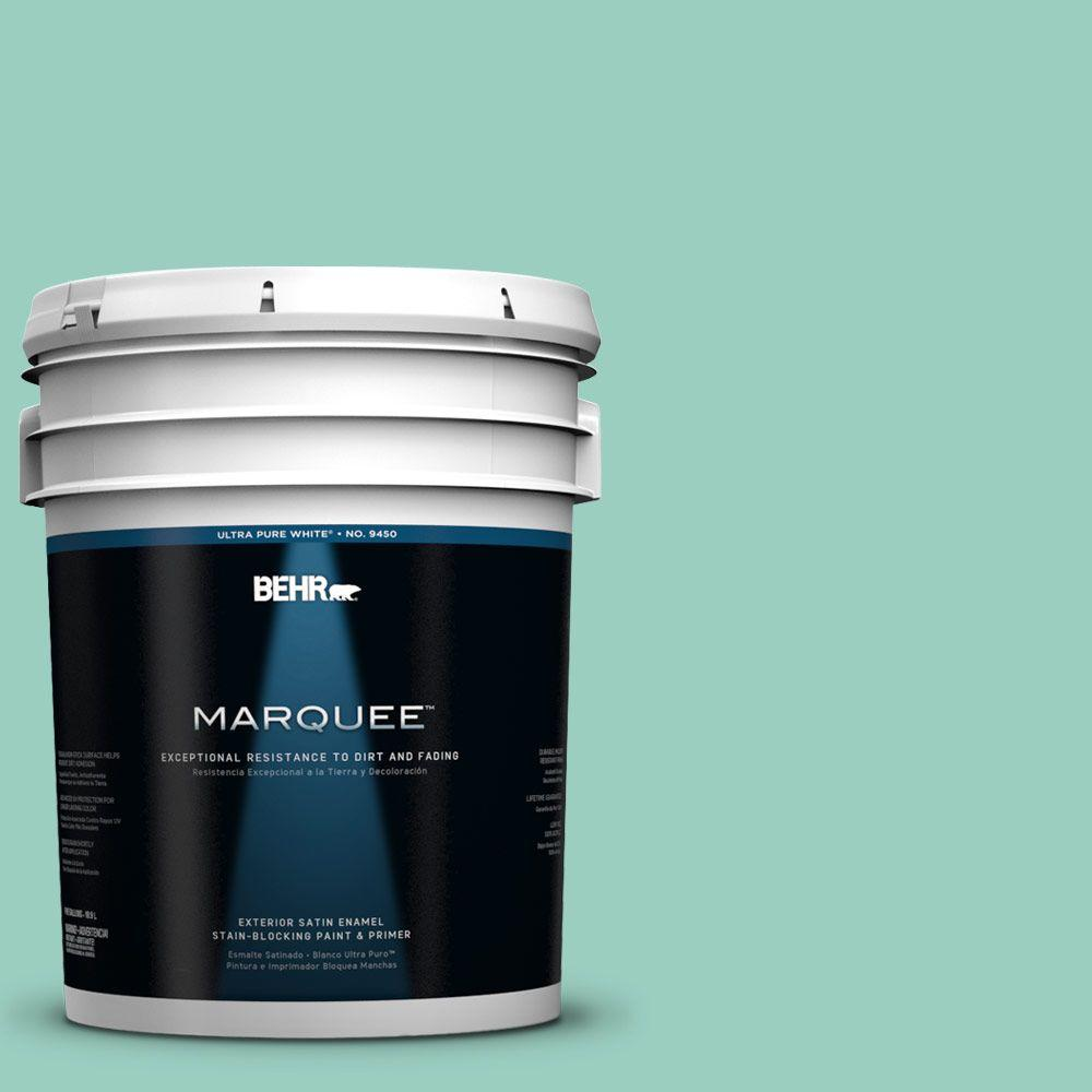 BEHR MARQUEE 5-gal. #HDC-SM14-6 Thermal Aqua Satin Enamel Exterior Paint