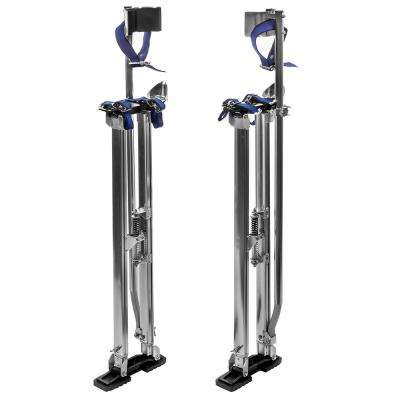 Professional 36 in. to 48 in. Aluminum Drywall Sheet Lifter Stilts with Adjustable Height