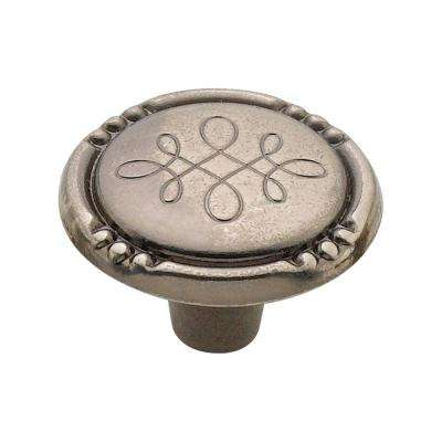 1.25 in. Antique Nickel Silverware Knob