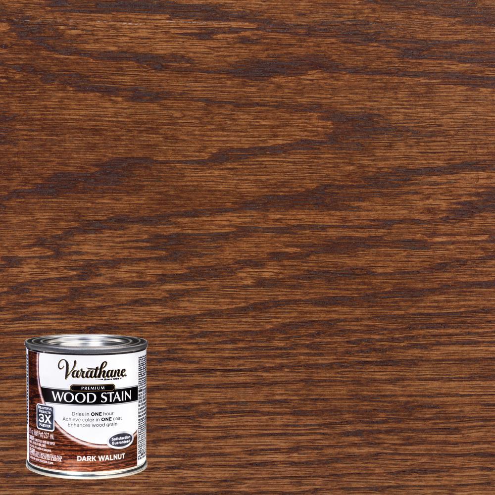 8 oz. Dark Walnut Premium Fast Dry Interior Wood Stain (4-Pack)