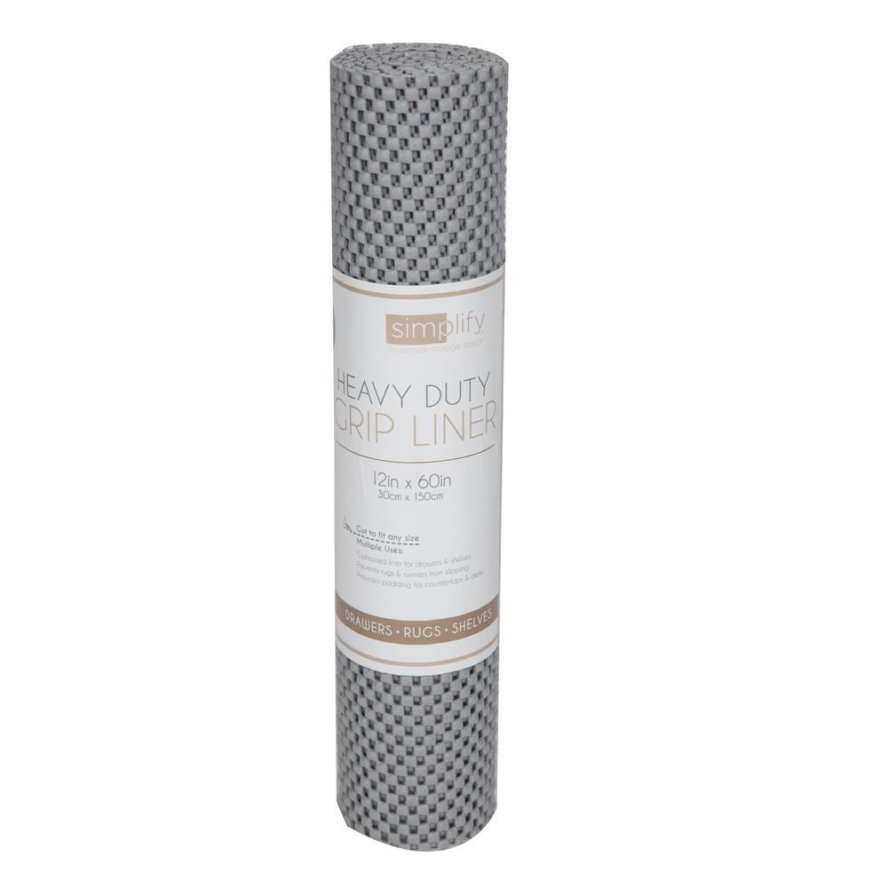 Grey Non Slip Grip Shelf Liner