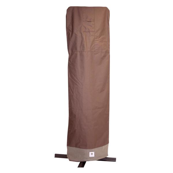 Duck Covers Ultimate 101 In Brown Patio Offset Umbrella Cover With Integrated Installation Pole Uum10134 The Home Depot