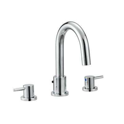 Eastport 8 in. Widespread 2-Handle Bathroom Faucet in Polished Chrome