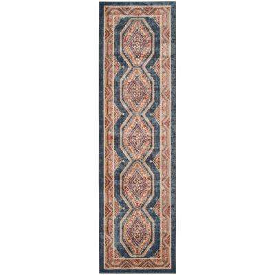 Bijar Royal/Rust 2 ft. x 12 ft. Runner
