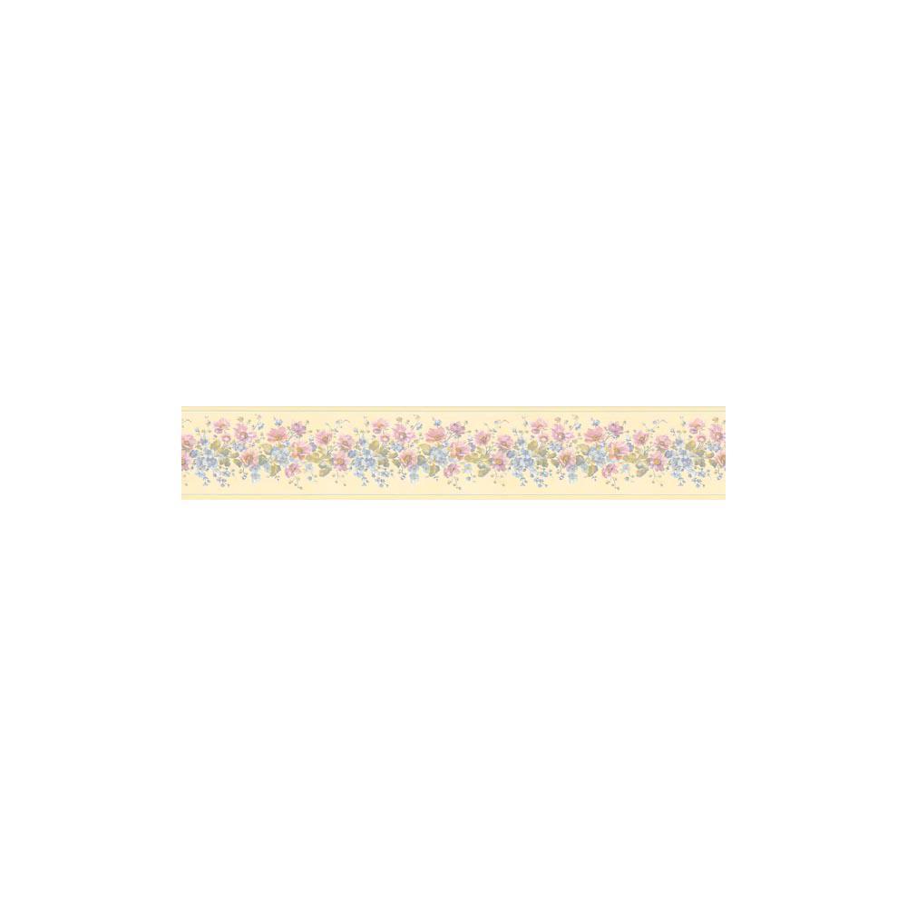 Pastel Flower Wallpaper Border 499b04949 The Home Depot