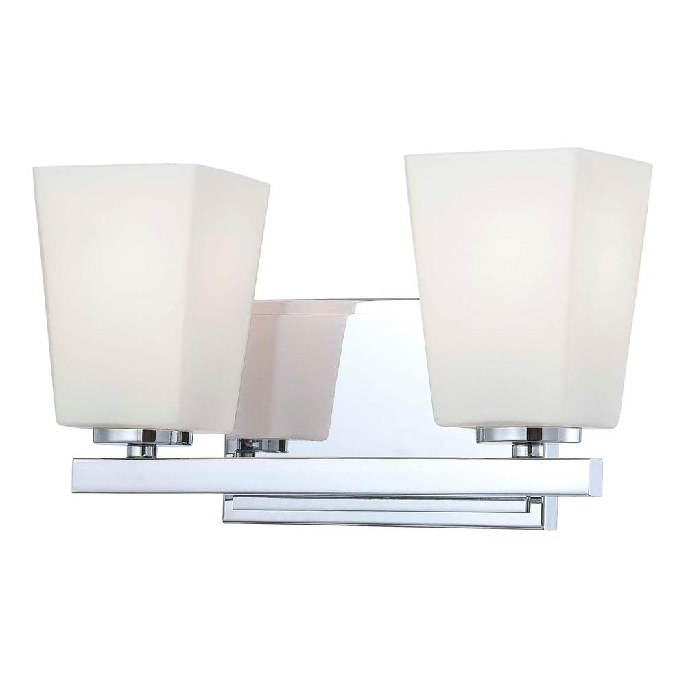 Minka Lavery City Square 2-Light Chrome Bath Vanity Light