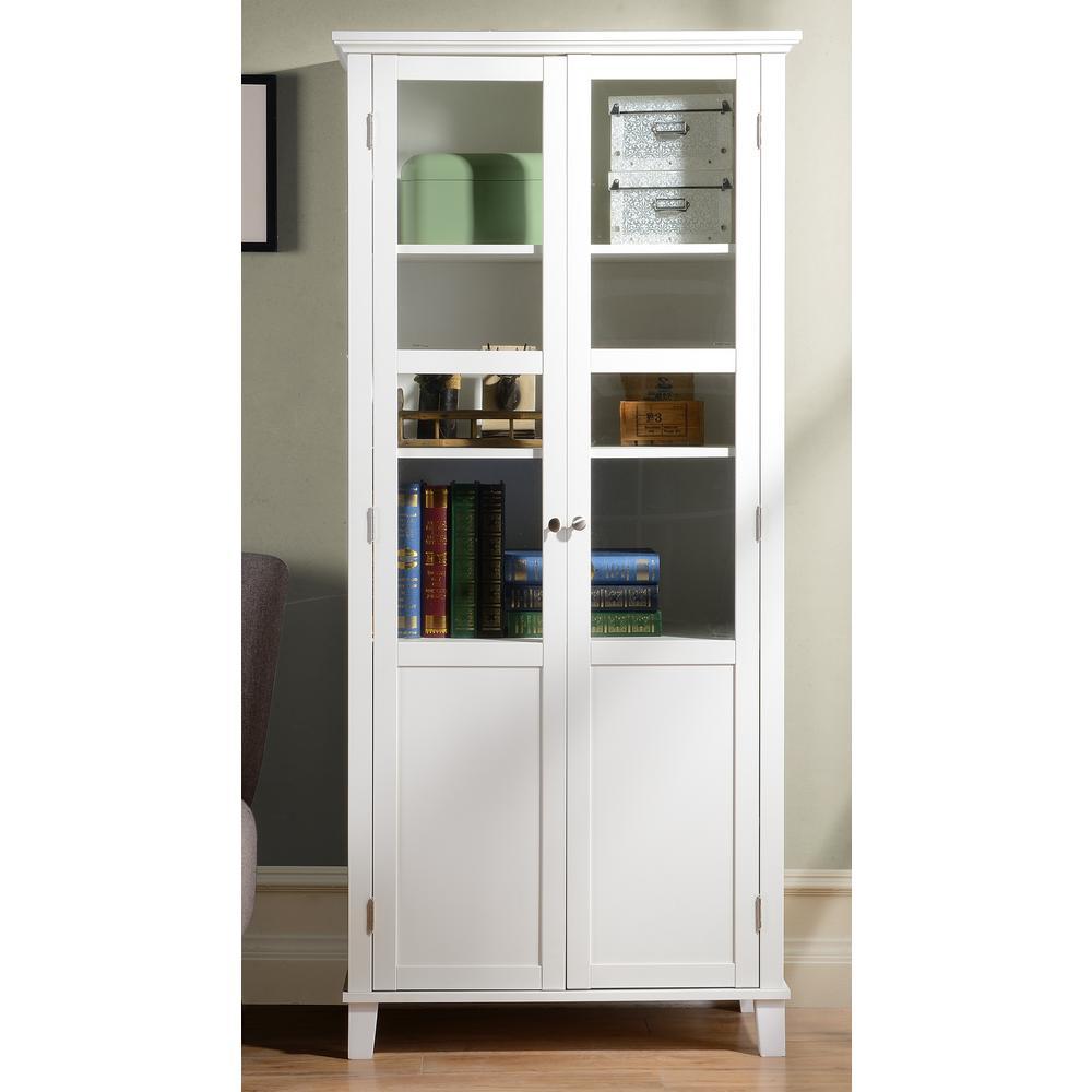 white storage cabinet zh1209431 the home depot. Black Bedroom Furniture Sets. Home Design Ideas