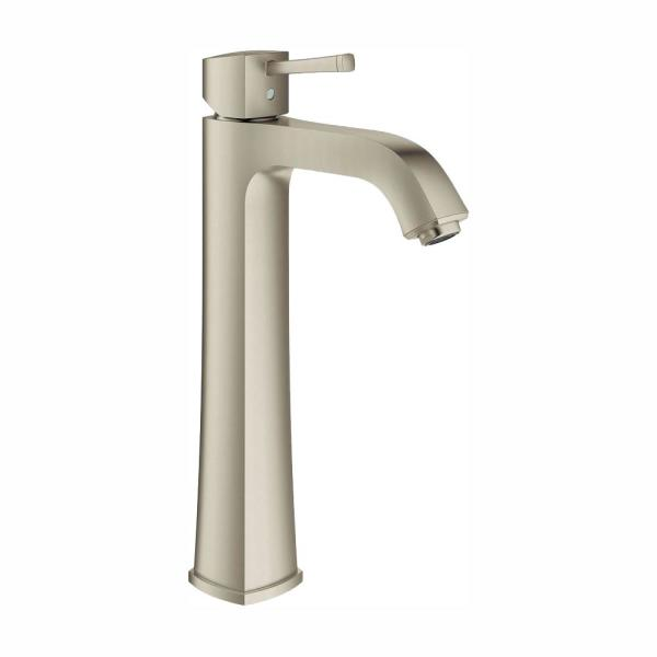 Grandera Single-Handle Single Hole 1.2 GPM Bathroom Faucet in Brushed Nickel Infinity