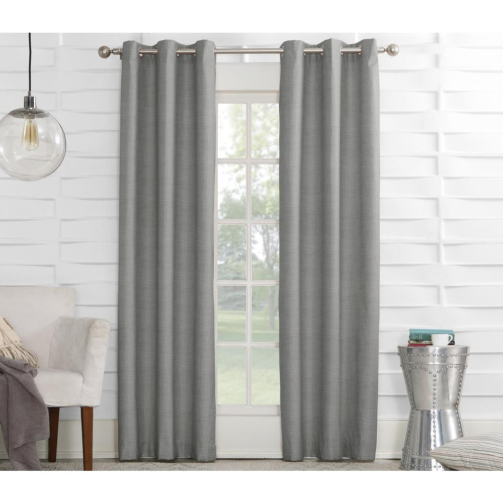Sun zero semi opaque silver tom thermal lined curtain panel 40 in w
