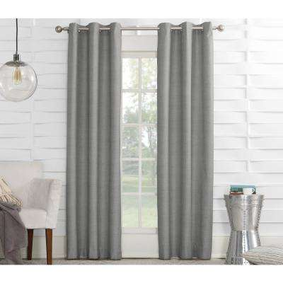 Semi-Opaque Silver Tom Thermal Lined Curtain Panel, 40 in. W x 84 in. L