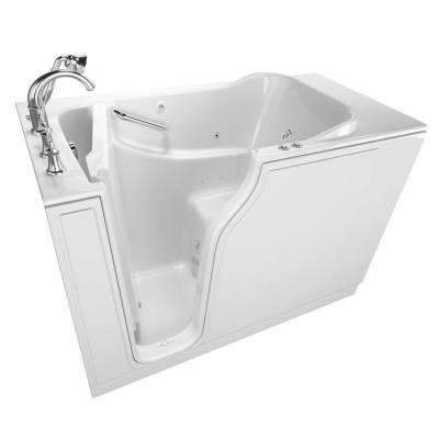 Gelcoat Value Series 52 in. x 30 in. Left Walk-In Whirlpool and Air Bathtub in White