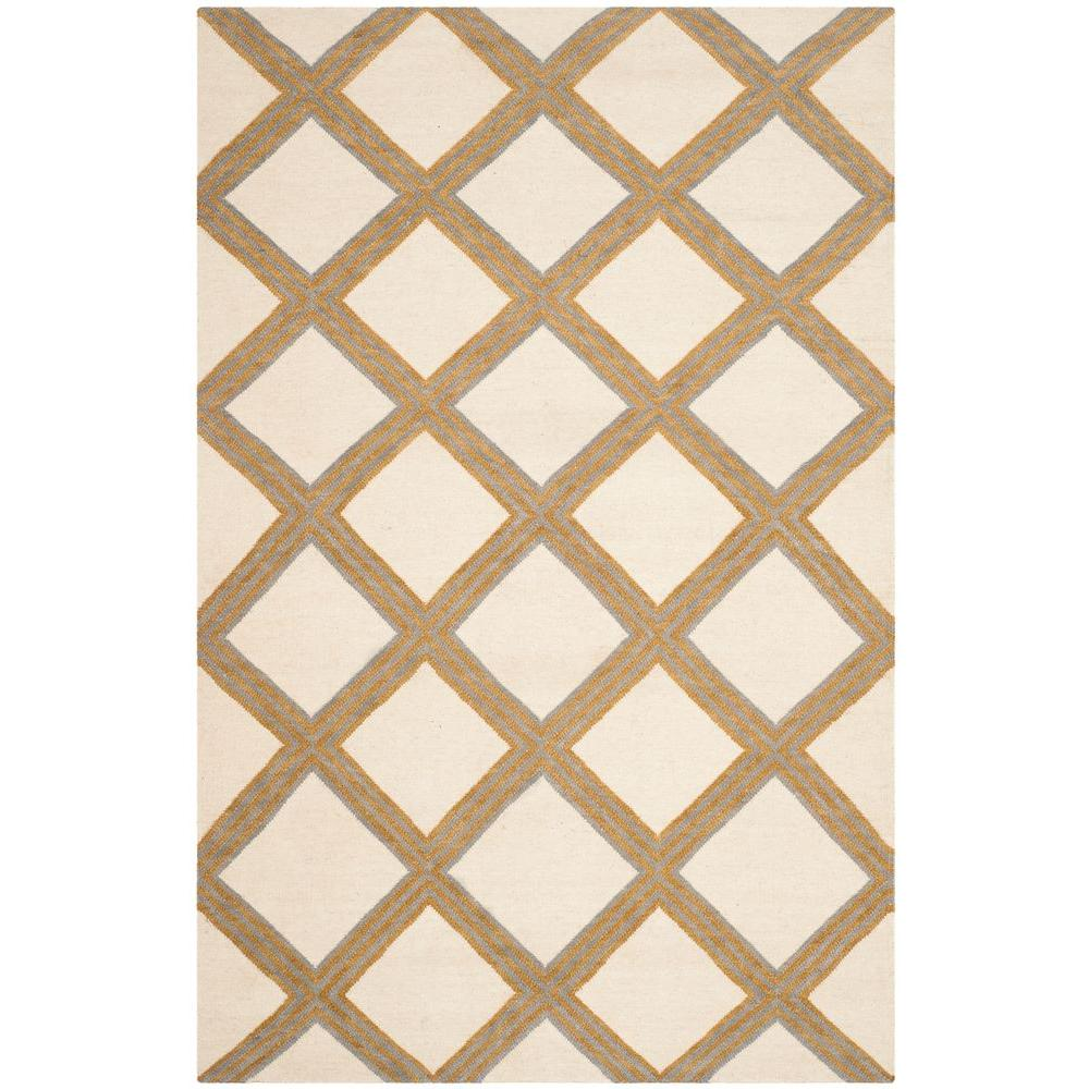 Safavieh Dhurries Ivory/Gold 8 ft. x 10 ft. Area Rug