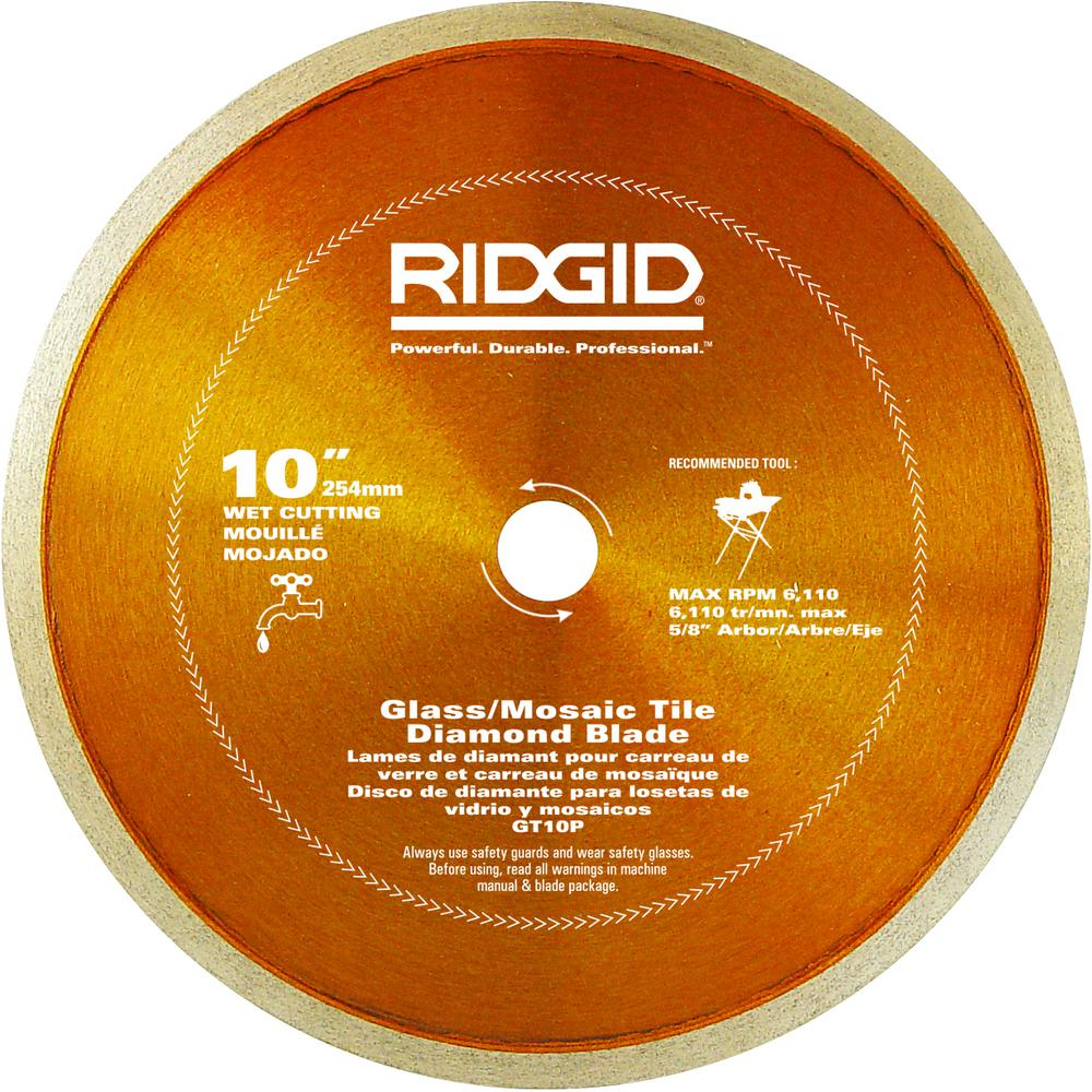 Ridgid 10 In Glass Tile Blade Hd Gt10p The Home Depot