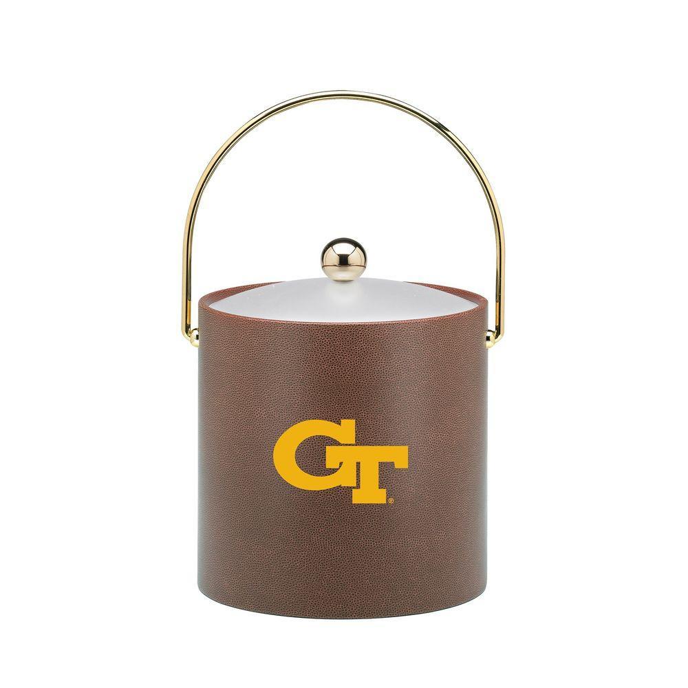 Kraftware Georgia Tech 3 Qt. Football Texture Ice Bucket