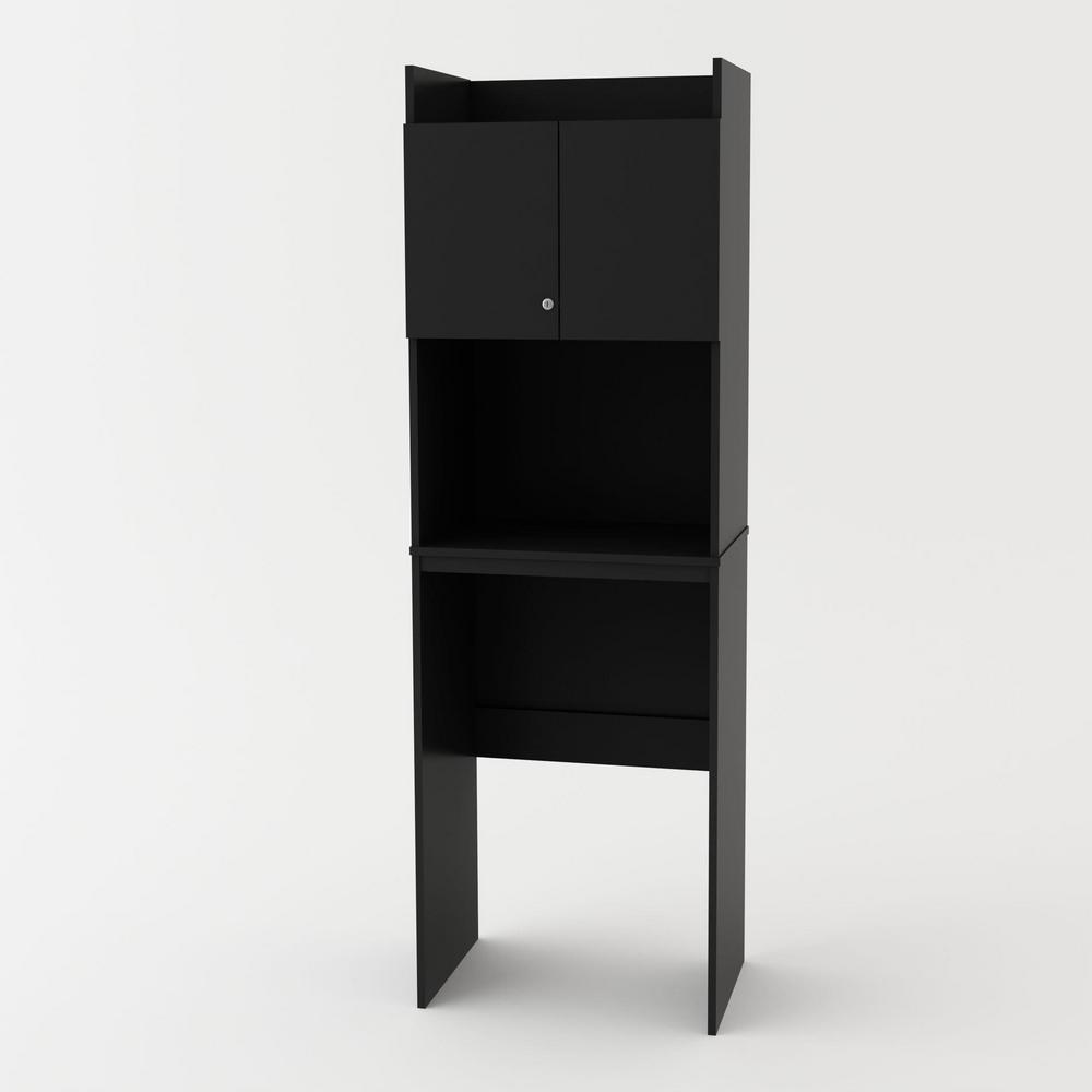 Riverdale Black Mini Refrigerator Storage Cabinet