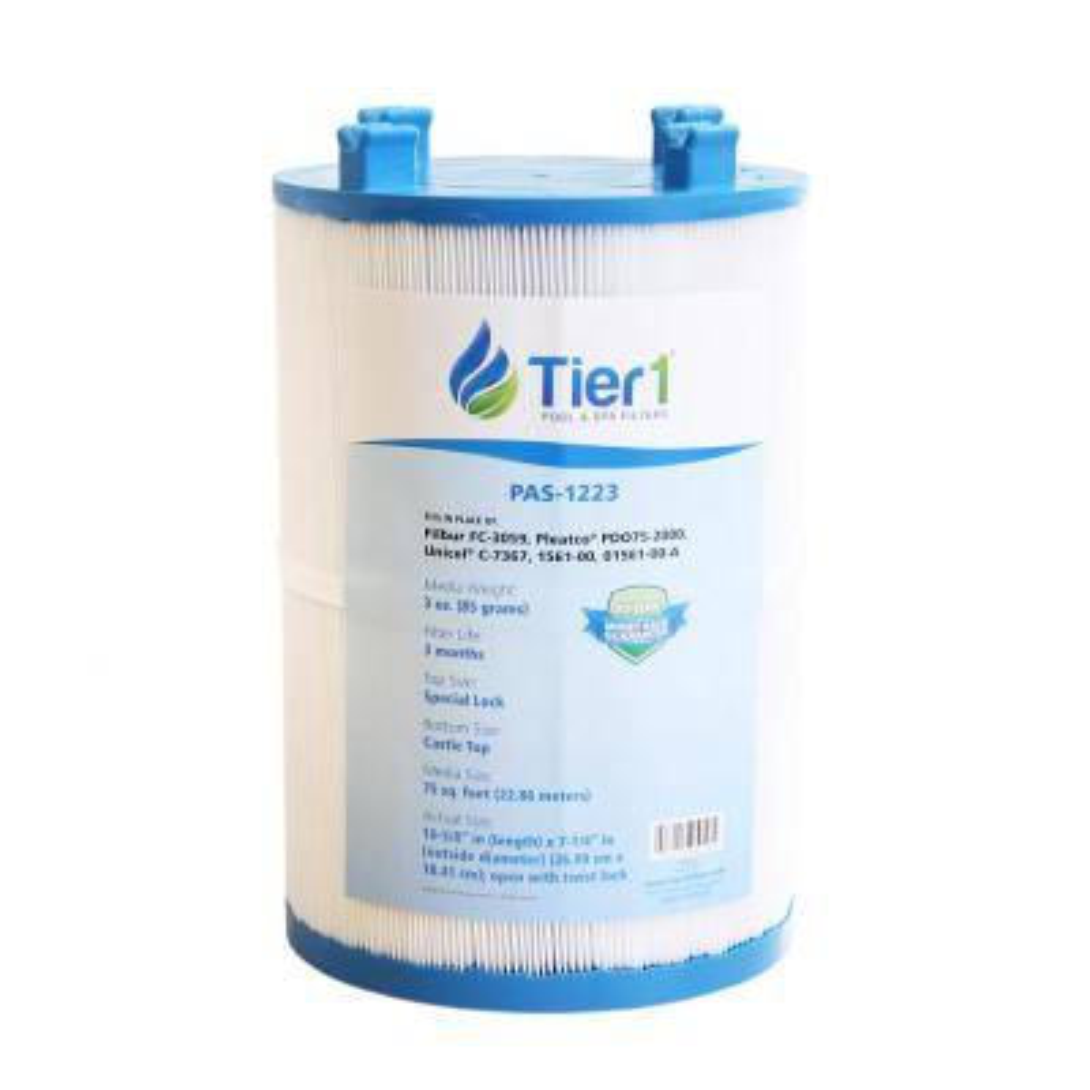 75 sq. ft. Spa Filter Cartridge for Dimension One 1561-00, Pleatco PDO75-2000, Filbur FC-3059