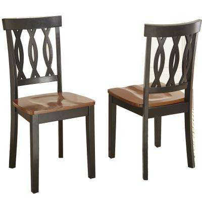 Ann Creek Brown and Black Side Chair (Set of 2)