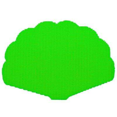 Fishnet Shell Placemat in Lime Green (Set of 12)