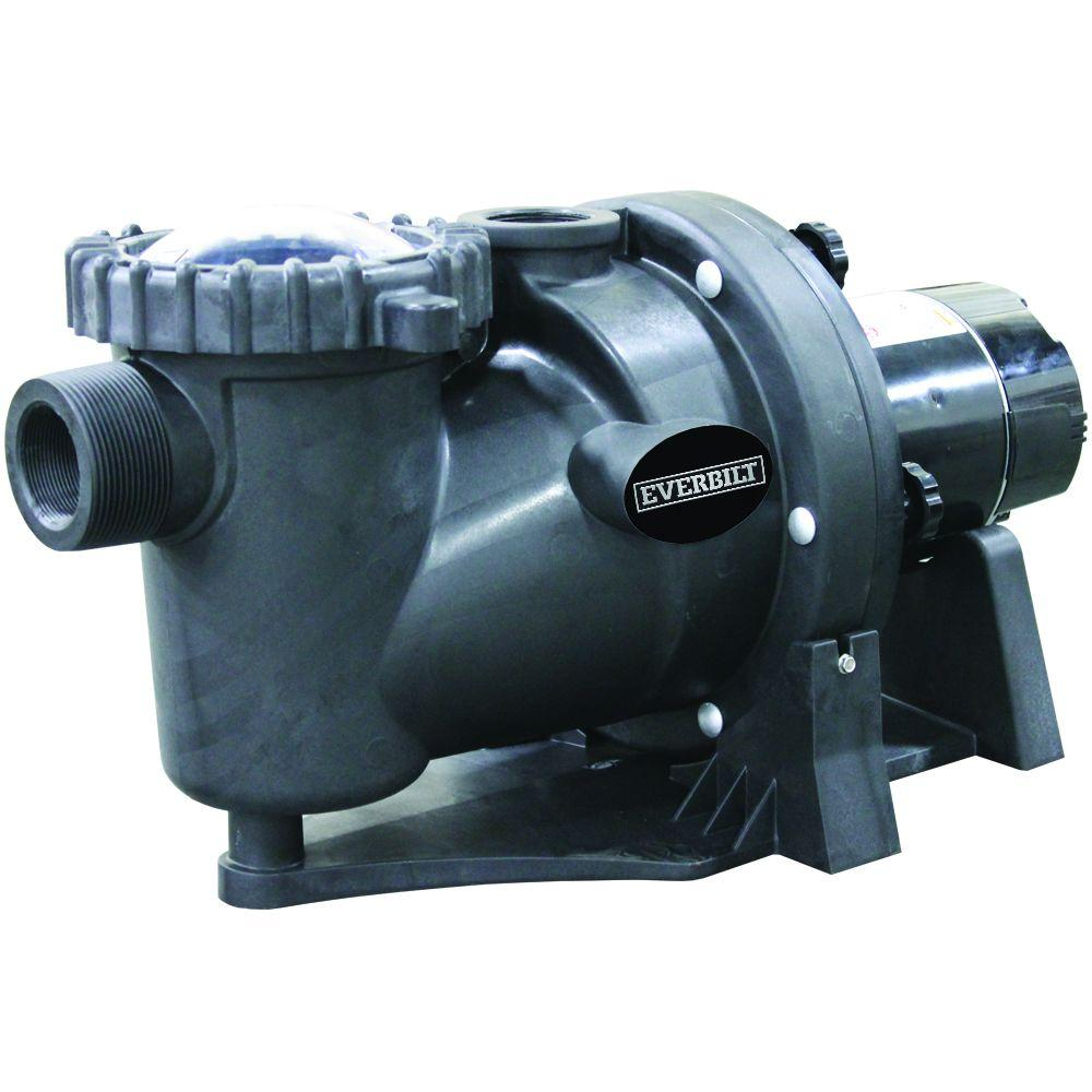 Everbilt 1.5 HP 230-Volt 2-Speed Pool Pump with Protector Technology