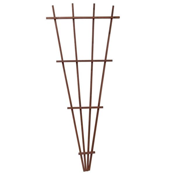 72 in. Brown Wood Fan Trellis