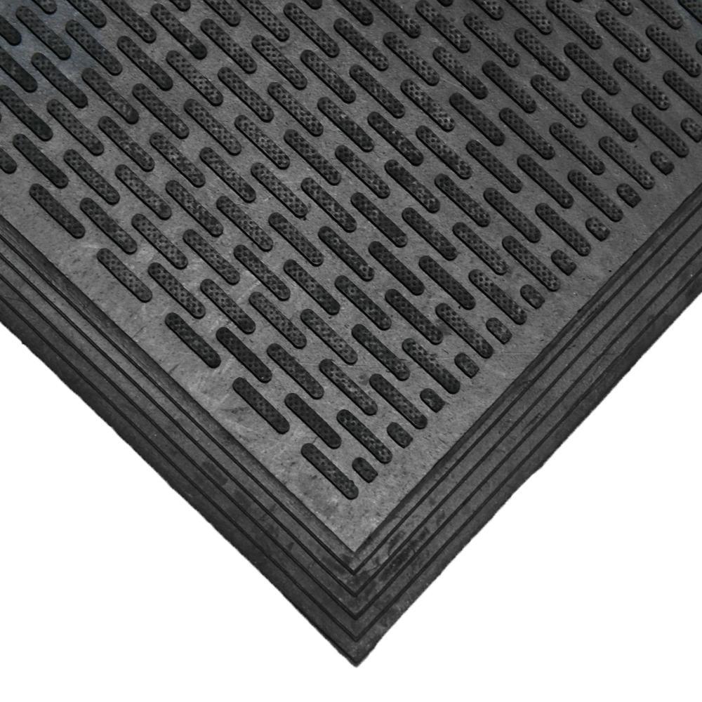 Rubber Cal Dura Scraper Linear 60 In X 36 In Black