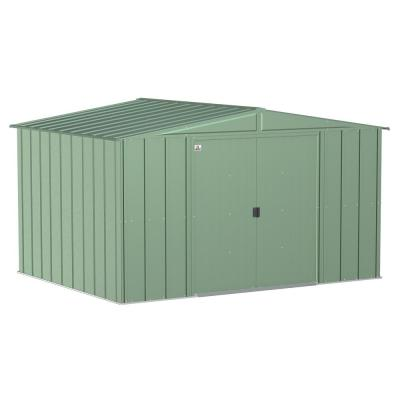 Classic 10 ft. W x 8 ft. D Sage Green Steel Storage Shed