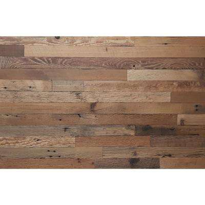 Reclaimed Barnwood Brown Natural 3/8 in. Thick x 2 in. W x Varying Length Solid Hardwood Wall Planks 20 sq. ft.