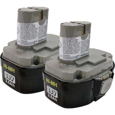 18-Volt Ni-MH 2.6 Ah Battery 1834, Pod Style (2-Pack)