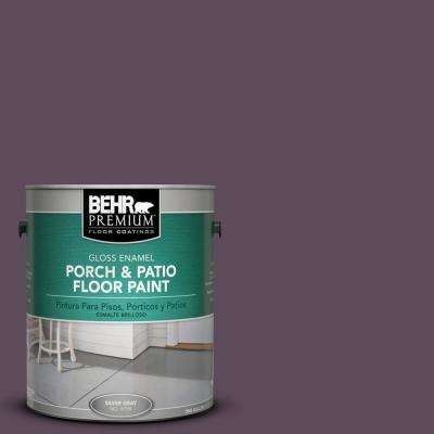 1 gal. #S100-7 Medieval Wine Gloss Interior/Exterior Porch and Patio Floor Paint