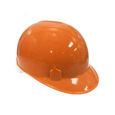 Orange HDPE Cap Style Bump Cap with 4 Point Pin Lock Suspension