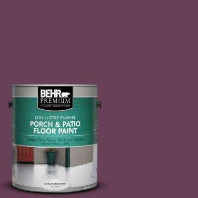 1 gal. #PPU1-20 Spiced Plum Low-Lustre Porch and Patio Floor Paint